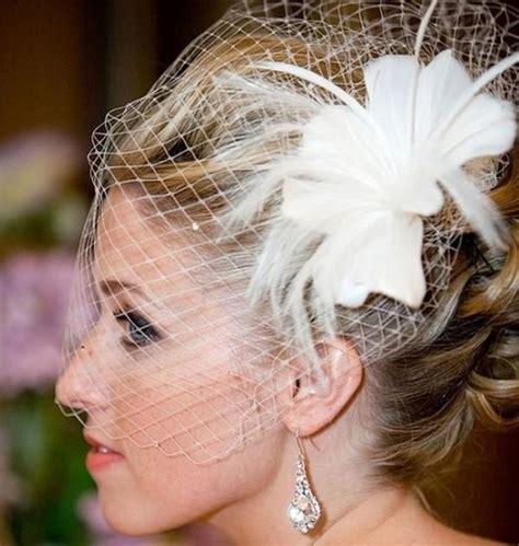 Feather Wedding Veil netting ivory feather wedding veil white flower bridal