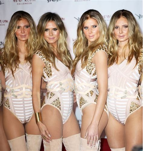 heidi klum surrounds herself with five real life clones at her heidi klum surrounds herself with five real life clones at