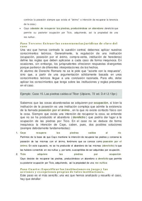 casos practicos derecho romano gu 237 a para la resoluci 243 n de casos pr 225 cticos de derecho romano