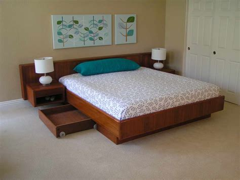 How To Make A Floating Bed Frame Woodwork Build Floating Platform Bed Pdf Plans
