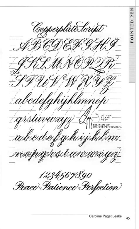 T 233 Cnicas De Caligraf 237 A Calligraphy Techniques Calligraphy Copperplate Script Exemplar Calligraphy Template Generator