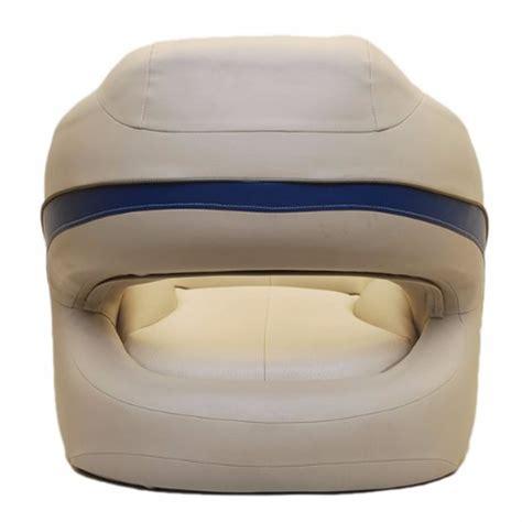 pontoon boat bucket seat tracker marine sun tracker beige ivory blue pontoon