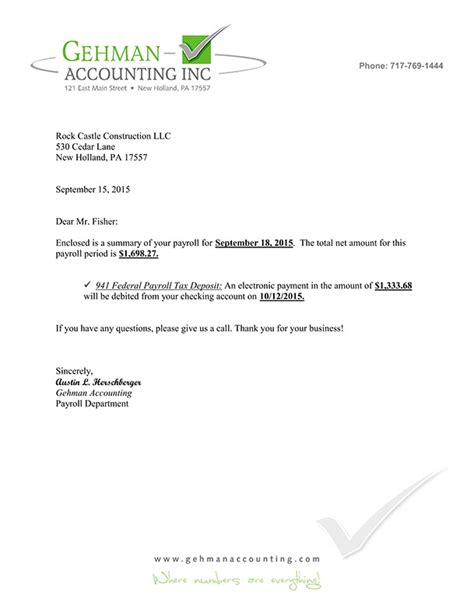 Apology Letter Payroll Error Gehman Accounting Inc Payroll
