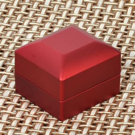 engagement ring box with light for proposal engagement jewelry displaying red polish