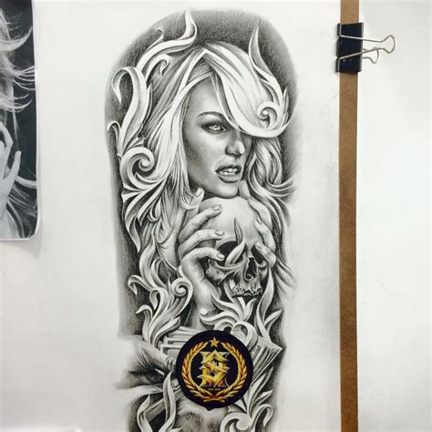 tattooed santa santa muerte mais referencias santa