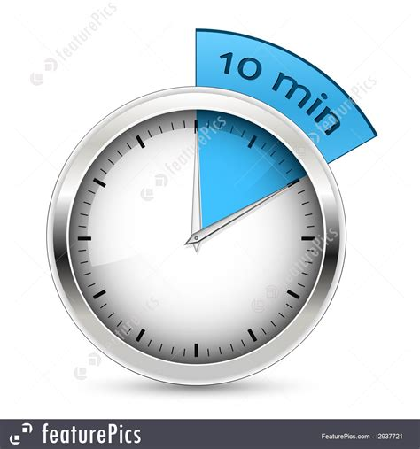 timer 10 mintues tools and supplies 10 minutes timer vector stock