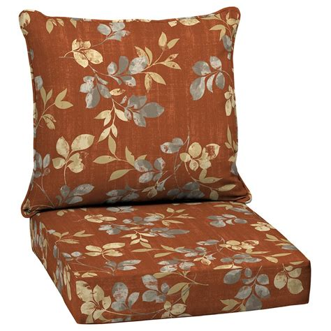 garden treasures terrace leaves  piece deep seating patio chair cushion set