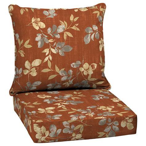 garden treasures terrace leaves  piece deep seating patio chair cushion set