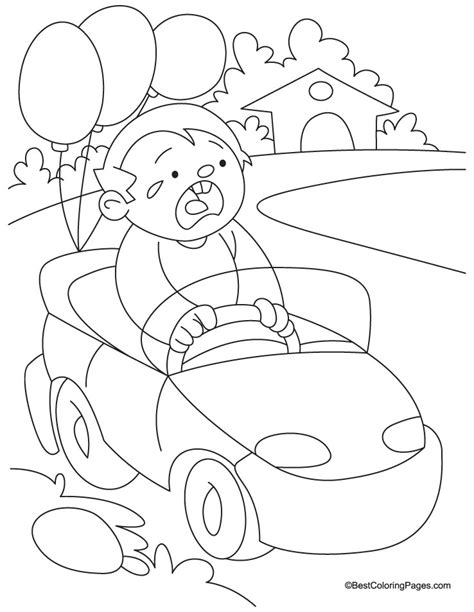 easy toy car coloring pages