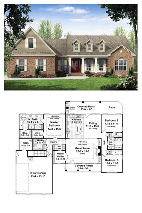 outdoor living house plans country traditional house plan 59114 outdoor living european countries and chang e 3