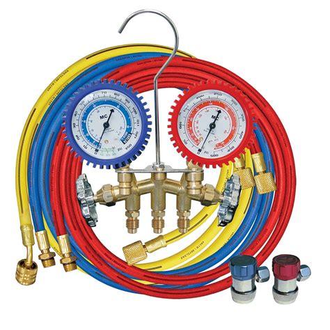 Brass Manifold Set brass manifold set shock resistant w 72 in hose r134a
