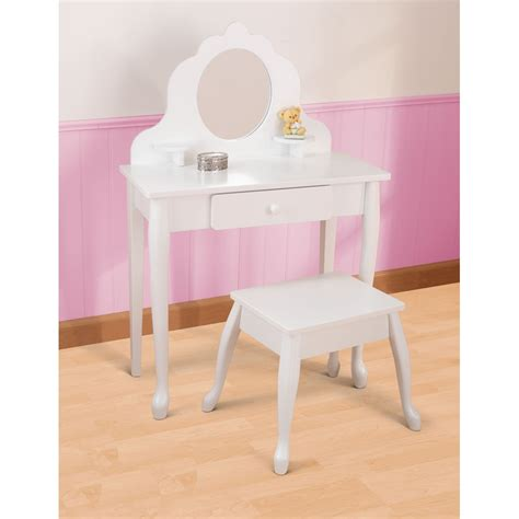 Kid Vanity Table And Chair Vanity Table And Stool In White Bedroom Furniture Cucko