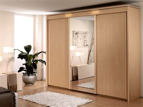 Three Doors by New York 3 Door 1 Mirror Sliding Door Wardrobe In