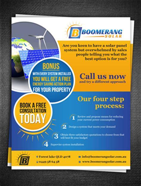designcrowd minimum budget 17 modern professional solar energy flyer designs for a