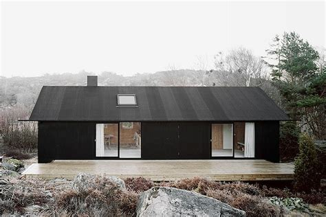 scandinavian houses 1950s swedish island cottage locks out the elements with a
