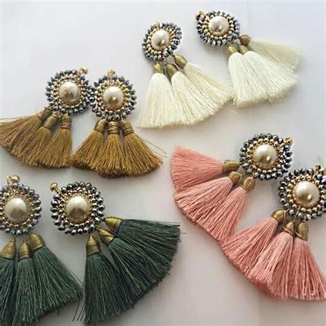 Anting Korea Multicolor Silk Thread Earrings earrings accessories and jewellery