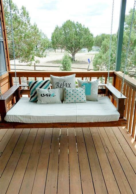 bed swing diy diy pallet swing bed hometalk