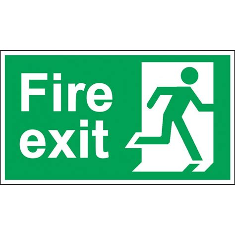 Handrail Gate Fire Exit Door Sign Bs 5499 Approved Green Amp White 1