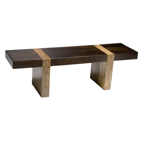low wooden bench berkeley solid wood modern rustic bench low console kathy kuo home