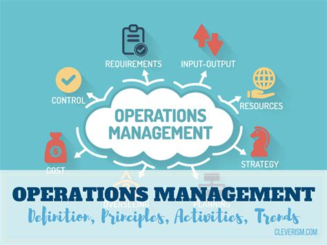 operation management operations management definition principles activities
