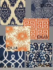 orange and navy curtains custom orange or navy indigo drapes lined pick the