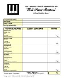 judges score sheet template world pianist invitational