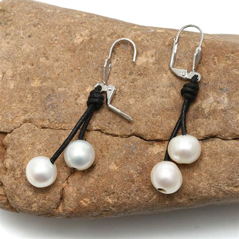 Aobei Pearl - 10-11mm of the potato white pearls earring ... Gold Hematite Beads