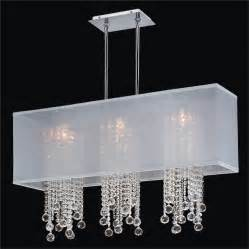 Rectangular Chandelier With Crystals Rectangular Shade Chandelier With Balls Omni