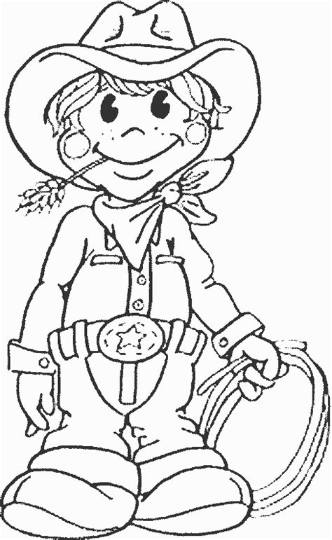 Cowboy Coloring Pages Barriee And Cowboy Coloring Pages Printable