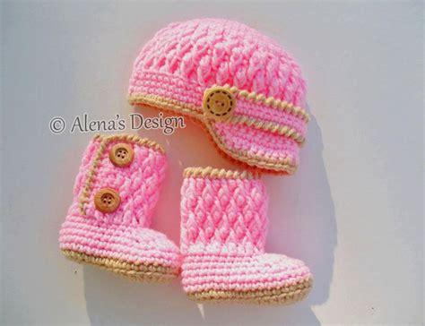 Alena Set Syari Purple two button baby booties set crochet pattern by alena byers