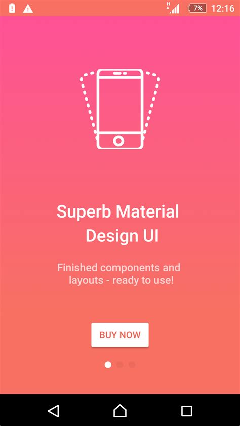 android ui layout design tutorial matta material design android ui template theme app by