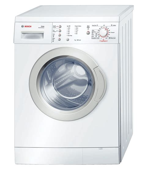 bosch front loader washing machine white model