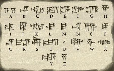 cuneiform letters az sumerian language alphabet free hd images