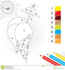 color kid color by number for stock photos image 20498193