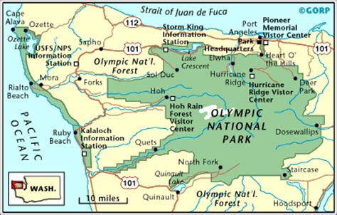 olympic national park map otter hill olympic national park a land of contrasts and variety