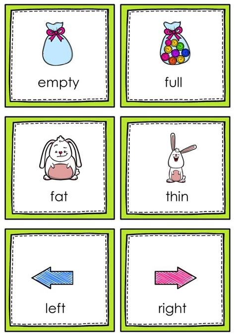 printable opposite cards for preschool opposites memory game memories memory games and game