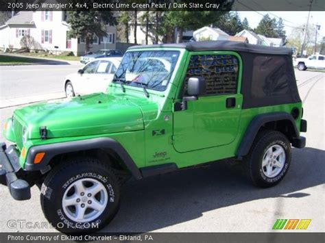 Lime Green Jeep Wrangler For Sale Electric Lime Green Pearl 2005 Jeep Wrangler X 4x4
