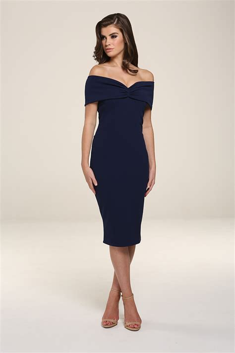 Dress Navy mila navy midi dress