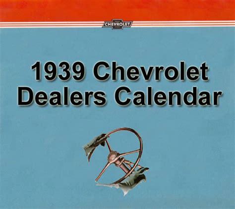 Calendar Dealers 1939 Chevrolet Dealer Calendar 1939 Chevrolet Calendar