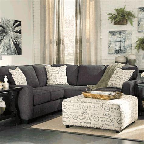 laf sofa rooms to go alenya charcoal 2pc laf sofa sectional cincinnati