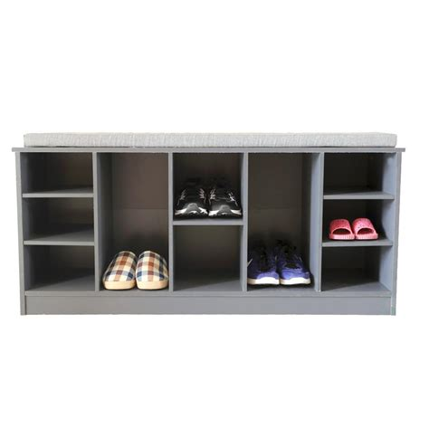 entryway bench shoe storage basicwise wooden shoe cubicle storage entryway bench with