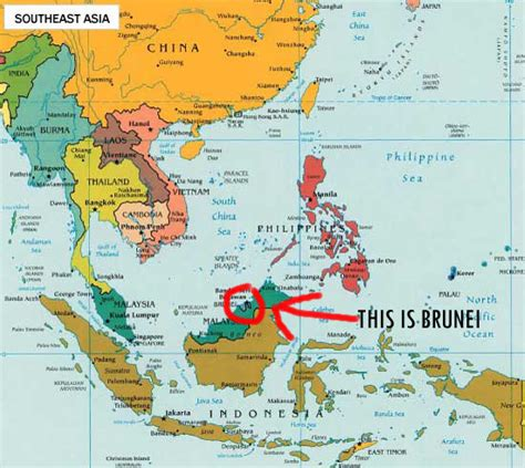 brunei map inkspired musings brunei small country with a history