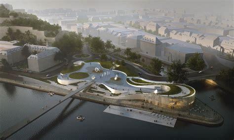 Design Competition Belgium | cultural plaza and digital port in namur e architect