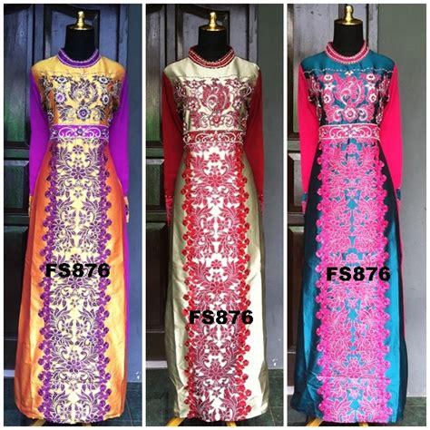 Suplier Baju Muslimah Gamis Cantik Bahan Jaguar Glitter Import Limite 1 fs876 fika shop