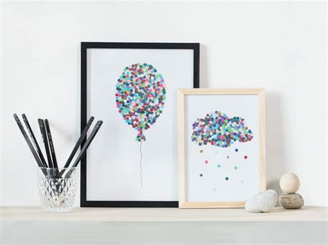 Art To Decorate Your Home diy illustrations with hole puncher