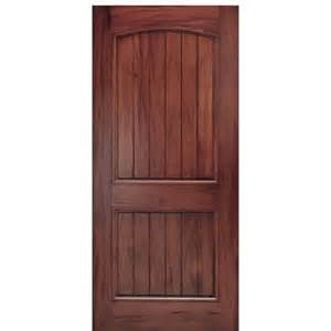 2 panel v groove arch top panel andean walnut wood entry