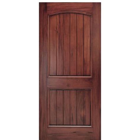 2 Panel Exterior Door Mai Doors A79p 1 2 Panel V Groove Arch Top Panel Andean Walnut Wood Door