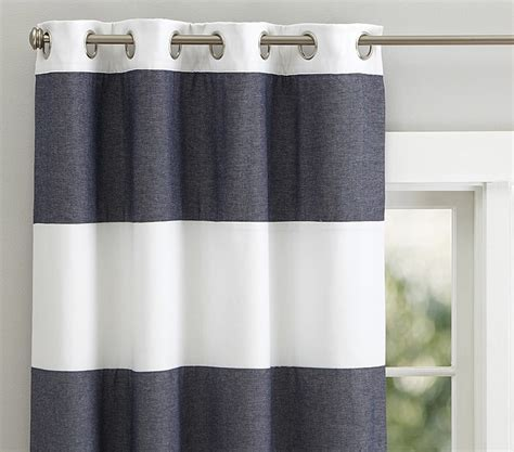 pottery barn striped curtains pottery barn navy and white striped curtains curtain