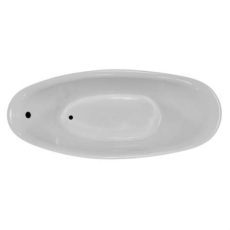 Lowes Bathtub Drain by Shop Laurel Mountain Dubois 72 In White Acrylic Freestanding Bathtub With Reversible Drain At