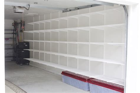 Garage Wall Liner by Simply Done Custom Wall Of Garage Shelving Simply Organized